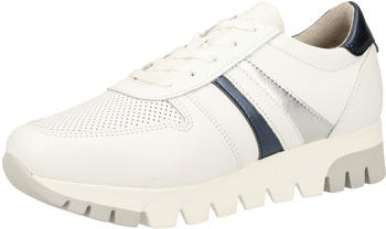 Tamaris Leather Trainers (1-1-23749-24-196) white lea/met.
