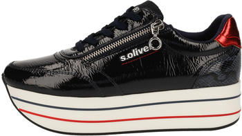 soliver-trainers-10191210623641-navy-patent