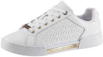 Tommy Hilfiger TH Monogram Trainers (FW0FW05549) white/gold