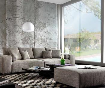 DeLife Big-Sofa XXL Marbeya 290x110 Hellgrau Hocker Schlaffunktion (6248)