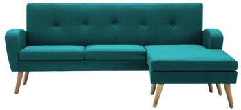 vidaXL Angle Sofa Fabric 186 x 136 cm Green