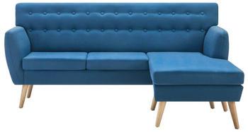 vidaXL Angle Sofa Fabric 171,5 x 138 cm Blue