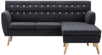 vidaXL Angle Sofa Fabric 171,5 x 138 cm Dark Grey
