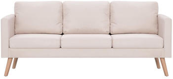 vidaXL 3-Seater Sofa Fabric Beige