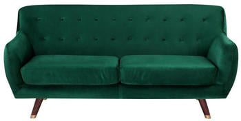 Beliani Bodo 3-Sitzer Samtstoff smaragdgrün