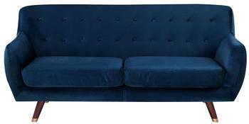 Beliani Bodo 3-Sitzer Samtstoff marineblau