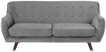 Beliani Bodo 3-Sitzer Samtstoff grau