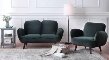 Atlantic Home Collection 2-Sitzer mit Wellenunterfederung grün