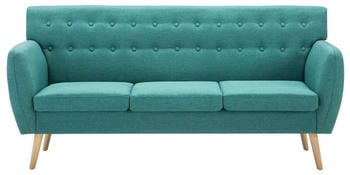 vidaXL 3-Seater Sofa Fabric 172 x 70 cm Green