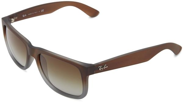 Ray-Ban Justin RB4165 854/7Z (brown rubber faded transparent grey rubber/green gradient)