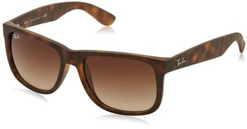 Ray-Ban Justin RB4165 710/13 (havana rubber/gradient brown)