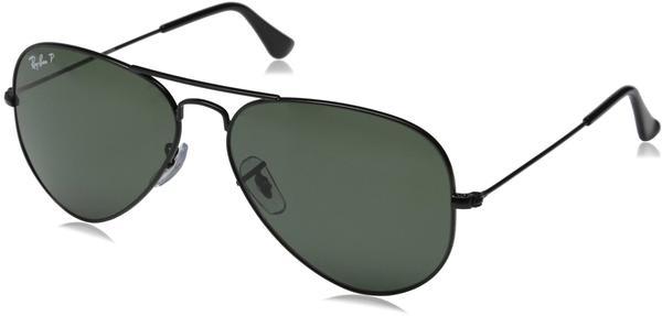 Ray-Ban Aviator Metal RB3025 002/58 (black/polarized green)