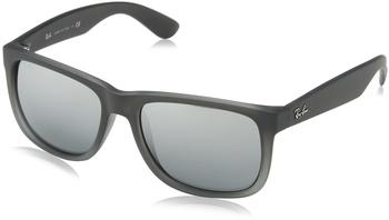 Ray-Ban Justin RB4165 852/88 (rubber grey transparent/gray silver mirror)