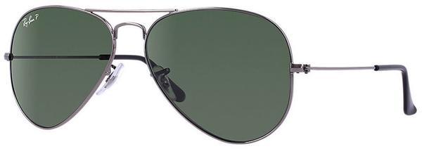 Ray-Ban Aviator Metal RB3025 004/58 (gunmetal/polarized green)
