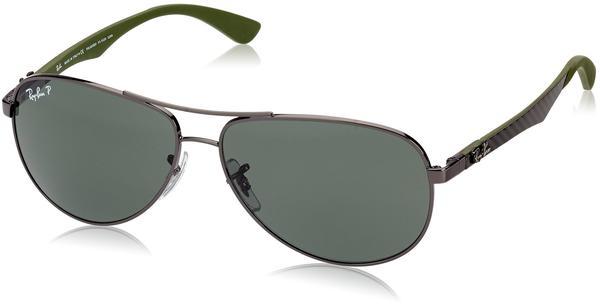 Ray-Ban RB8313 004/N5 (shiny gunmetal/green polarized)