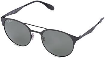 ray-ban-rb3545-186-9a-gruen-metall-kunststoff-panto-damen-herren-sonnenbrille-in-54-20-klein