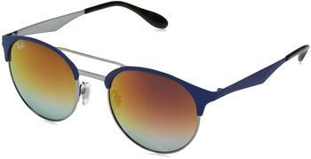 ray-ban-rb3545-9005a9-violett-metall-kunststoff-panto-damen-herren-sonnenbrille-in-51-20-klein