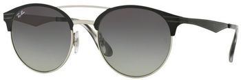 ray-ban-rb3545-900411-grau-metall-kunststoff-panto-damen-herren-sonnenbrille-in-54-20-klein