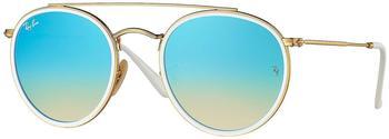 ray-ban-rb3647n-001-4o-gold-blau-metall-mineralisches-glas-panto-damen-herren-sonnenbrille-in-51-22-klein