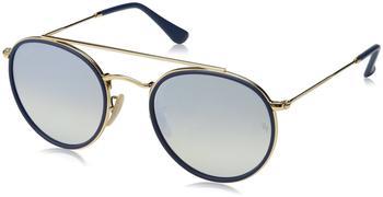 ray-ban-rb3647n-001-9u-gold-silber-metall-mineralisches-glas-panto-damen-herren-sonnenbrille-in-51-22-klein