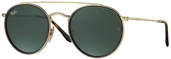 Ray-Ban Round Double Bridge RB3647N 001 (gold/green classic G-15)