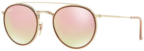 Ray-Ban Round Double Bridge RB3647N 001/7O (gold/copper gradient flash)