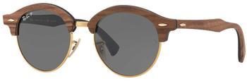ray-ban-rb4246m-118158-braun-gruen-holz-mineralisches-glas-panto-damen-herren-sonnenbrille-in-51-19-klein