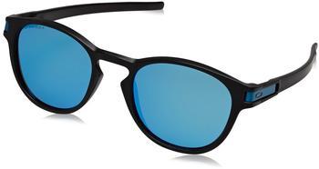oakley-latch-oo9265-30-schwarz-blau-kunststoff-plutonite-panto-rund-damen-herren-sonnenbrille-in-53-21-klein