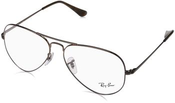 ray-ban-rx6489-2531-braun-metall-pilot-aviator-damen-herren-brille-in-58-14-mittelgross