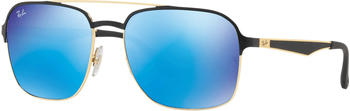 Ray-Ban RB3570 187/55 (black/blue mirror)