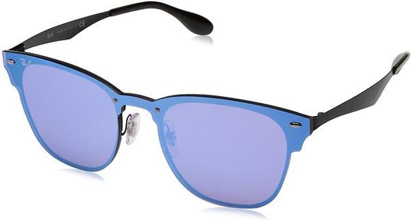 Ray-Ban Blaze Clubmaster RB3576N 153/7V (black/violet-blue mirror)