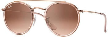 Ray-Ban Round Double Bridge RB3647N 9069A5 (degraded brown)