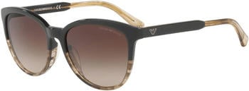 Emporio Armani EA4101 5567/13 (brown-transparent striped brown/brown gradient)