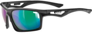 Uvex Sportstyle 700 black mat/mirror green