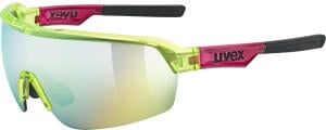 Uvex Sportstyle 227 yellow red transparent/mirror yellow