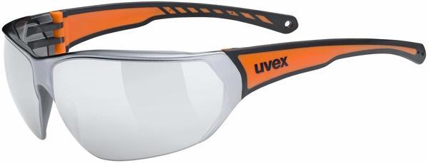 Uvex Sportstyle 204 black orange/mirror silver