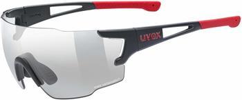 Uvex Sportstyle 804 V black mat red/smoke