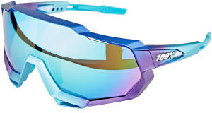 100% Speedtrap matte metallic into the fade/blue topaz multilayer mirror + clear
