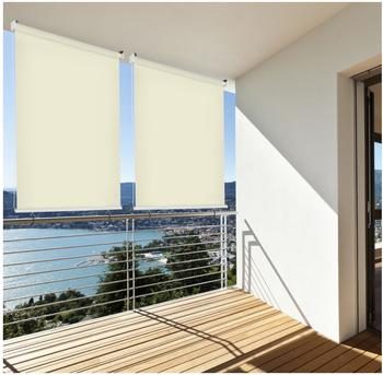 Home & Garden Sonnenschutz Aussenrollo Sichtschutz Balkon creme 100x230cm 302660114-VH