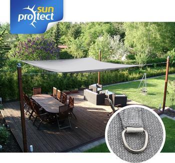 Sunprotect Rechteck 3,5 x 4,5 m silbergrau