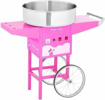 Catering Royal Zuckerwattemaschine mit Wagen pink RCZC-1200-P