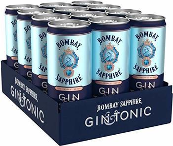 Bacardi Bombay Sapphire Gin & Tonic Ready to Drink 10% Dosen 12x0,25l