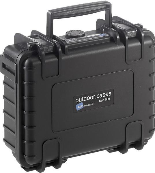B&W Outdoor Case Typ 500 incl. SI schwarz