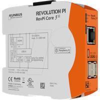 Kunbus RevPi Core3+ 8GB PR100299 SPS-Steuerungsmodul 12 V, 24V
