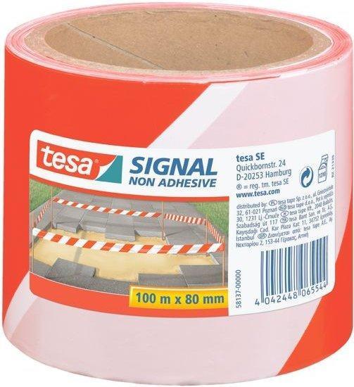 Tesa Signal-Absperrband rot/weiß 100mx80mm (8137-00000-00)