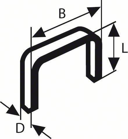 Bosch Tackerklammern Typ 53 11,4 x 4 mm (2609200291)