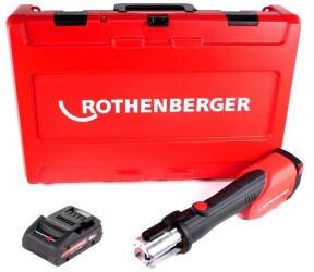 ROTHENBERGER ROMAX 4000 Akku Pressmaschine 18 V Li-Ion elektrohydraulisch im Transportkoffer mit 4 Ah Akku, ohne Ladegerät