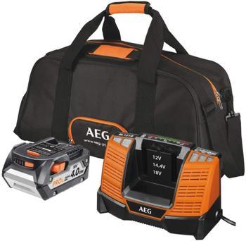 AEG Ladegerät + Akku-Kit Set L1840 BL