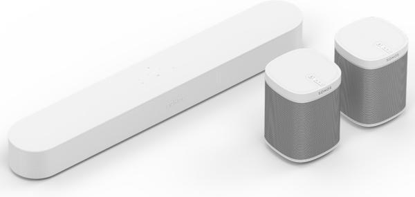 Sonos Beam (weiß) + 2x Sonos Play:1