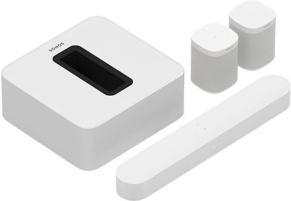 Sonos Beam (weiß) + Sonos Sub + 2x Sonos One 5.1 Surround-Set